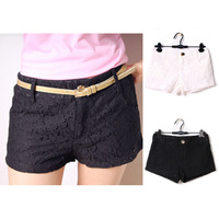 Hot 2 Colors Women Tiered Shorts Irregular Zipper Trousers Culottes Shorts Skirt S M L XL