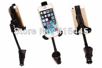Wholesale Convenience Car Vehicle-Mounted 2 Bracket Holders Charge Rotatable mobile phone, free shipping 100pcs