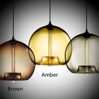 New Modern Contemporary 6 Color Glass Ball Pendant Lights Pendant Lamps for home Indoor Lighting Fixture I