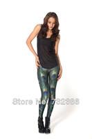 2014 New brand black milk for women's Peacock feathers 3D print leggings spring autumn fitness galaxy pencil pants harajuku