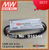MEAN WELL 120W 24V dimmable LED Driver HLG-120H-24B