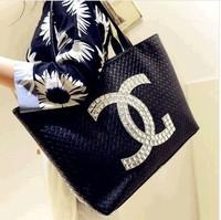 Free shipping 2014 Fashion Designer Handbags Leather Bags Women Messenger Bag Vintage Plaid Bucket Shoulder Bags Totes--003