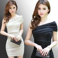One-piece dress ktv princess clothes slim evening dress ds slim hip short