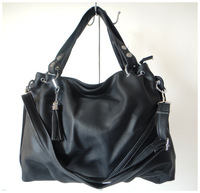 A98(black) wholesale popular bag,,2014 fashion ladys handbag,43x23cm,PU,6 different colors,two function,Free shipping