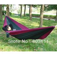 portátil al aire libre viajar y acampar paracaídas tela de nylon hamaca para dos personas(China (Mainland))