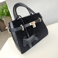 Free shipping Fashion rabbit bag lockbutton portable one shoulder cross-body women's handbag bag