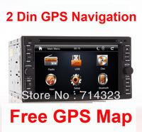 """New Arrival universal 2 two Din 6.2"""" 3D Car DVD player GPS Navigation audio Radio stereo,BT/TV,digital touch screen 3G Option"""