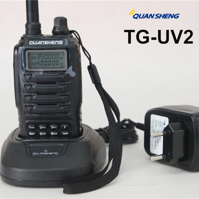 Free Shipping QuanSheng TG-UV2 Military Walkie Talkie 5W Power 2000mAh Battery High Quality Professional Two Way Radio(China (Mainland))