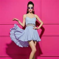 2013  fashion racerback sexy cutout patchwork irregular sweep drop Shipping Loose Low-key Luxury  Evening dress Plus size
