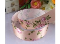 Free shipping!!!Satin Ribbon,Unique, pink, 25mm, Length:100 Yard, 20PCs/Lot, Sold By Lot