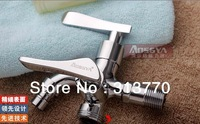 Free shipping copper dual holder three hole faucet washing machine mop faucet