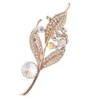Free shipping Elegant wedding brooch crystal rhinestone leaf brooches for wedding BR007