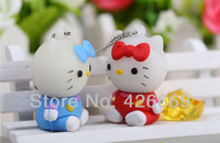 Wholesale Fashion Cute Cartoon Hello Kitty USB Flash Drive Disk 2GB/4GB/8GB/16GB/32GB/64GB Shipping free