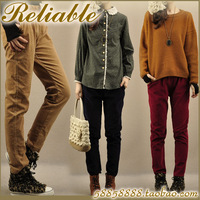 2013 pants trousers loose casual elastic corduroy trousers harem pants