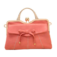 New 2013 Fashion sweet gentlewomen folding clip one shoulder handbag cross-body bow female bags