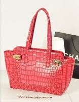 2013 women's handbag crocodile pattern bags stone pattern vintage bags shoulder bag handbag