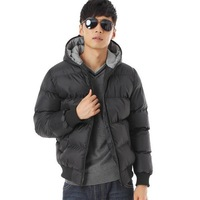 Men's black Waterproof parka Men's outerwear for winter New Fashion 2013 Top quality zipper Padded coat dy365