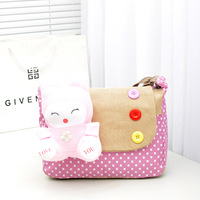 2013 women's handbag cartoon love rabbit bag casual canvas bag one shoulder cross-body bags female