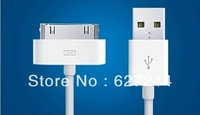 Free shipping New Original High quality USB Data charger Sync Cable For iPhone4 4S iPod Touch4 4th iPad1 iPad2 iPad3 iPad4