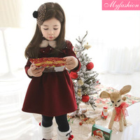 2013 winter children's clothing female child thickening cotton-padded long-sleeve dress child princess dress baby skirt