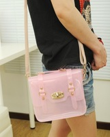Type-2 Fashion Womens Sweet Jelly Clear Transparent Handbag Hobo Tote Shoulder Bags 6 colors
