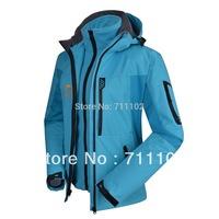 2014 new woman winter jacket Outdoor sports coat lady Waterproof windbreaker hood windbreaker camping & hiking mountain skiing