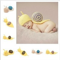 Free shipping! Baby /kids Handmade cap Toddler Knitted Snail caps Newborn Baby Crochet Beanie animal hats 2colors 1pc/lot