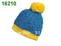 Fashion Women's Winter Warm Knit Wool Beanie Hat Crochet Warm Pumpkin Ball Hat