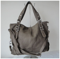 A101(gray) beautiful handbag,fashion ladys handbag,newest handbag42x25cm,PU,7 different colors,two function,Free shipping