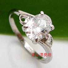 Series of oval shape personalized 1.3 cubic zircon zirconium diamond ring wedding ring female ka63