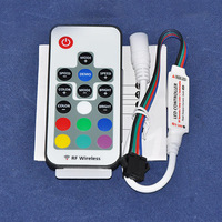 5pcs/Lot, DC5~24V 12A 433.92MHz RF Wireless Card Type RF Remote RGB LED Controller
