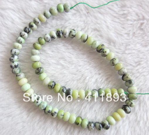 Serpentin perlen, durchmesser 8mm, 40cm Länge, 40.14g