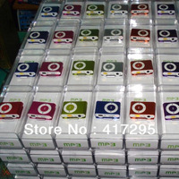 Wholesale Christmas gift 2000pcs/lot Clip mp3 player with Micro TF/SD card slot with Retail Box DHL/ Fedex Free Shipping