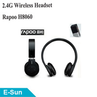 Original Rapoo H8060 2.4G wireless headsets headphones with 3.5mm jack and RCA jack rechargeable,Free Shipping