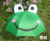 Children's Umbrella of creative cartoon (Green Frog)  pattern umbrella