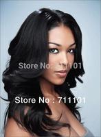 Fashion freestyle Human Hair Lace front Wig Free shipping 1#1b# black body wave curl brazilian virgin Human hair Lace Front Wigs