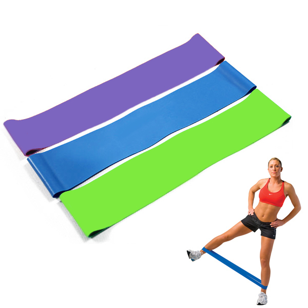 3pcs Ultra Light/Med/Heavy Resistance Band Exercise Thigh Loop elastic loops yoga Fitness Bands Gym Body building Circle tubes(China (Mainland))