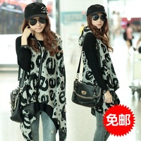 2013 autumn women's sleeveless loose medium-long irregular vest outerwear