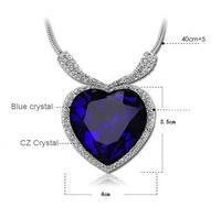 The Titanic Souvenir Edition Crystal Necklace Heart Of Ocean Love Heart Pendants Neckalce AN356