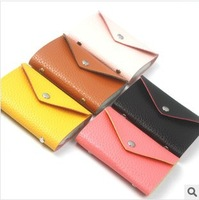 Korean version Simple envelope Embossed leather ladies Buckle 12-bit card bank Card pack card sets RX886