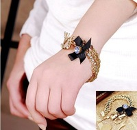 Min Order $15(Can Mix Item)Latest hot sale multi element bow&heart&arrow alloy bracelet