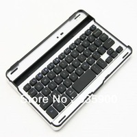 Free Shipping Bluetooth Wireless Aluminum Slim Keyboard for iPad Mini Case Cover Black & White