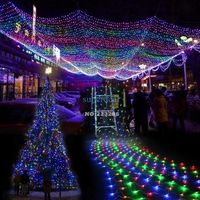8 Modes Colorful Christmas Wedding Party Light 300 LED Net Mesh Decorative Fairy Lights Twinkle Lighting EU TK1117 Z
