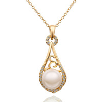 18K Rose Gold Plating Loved Flower Engagement necklaces With Genuine Element Austrian Crystals Fashion Jewelry 627
