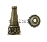 Free shipping!!!Zinc Alloy Jewelry Beads,Vintage Jewelry, Cone, antique bronze color plated, nickel, lead & cadmium free