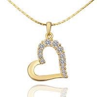 18KGP Narrow 18K Gold Plated necklace Jewelry Nickel Free K Golden Plating Platinum Rhinestone Austrian Crystal Element 585