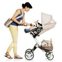 Big Promotion!!!Good Quality Stokke Xplory Stroller 2013 Brown With Accessory Hot Selling Fab Pram