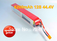 Lipo RC model battery 6200mah 12s 44.4v 30C battery  high quality  with XT60 connector for camera helicopter multicopter