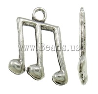 Free shipping!!!Zinc Alloy Pendants,Lovely Jewelry, Music Note, antique silver color plated, nickel, lead & cadmium free