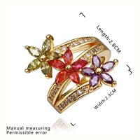 New Arrival 18K Gold Plated Ring,Fashion Jewelry Ring,18K Rhinestone Austrian Crystal Ring Men Women Wedding Rings SMTPR454